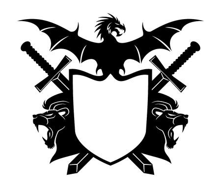 Illustration pour Shield for your text. - image libre de droit