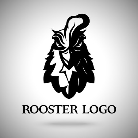 Illustration for Vector rooster head logo template for business - Royalty Free Image