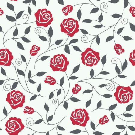 Seamless abstract  background  with roses mural