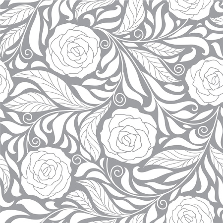 seamless dark floral  background with roses mural