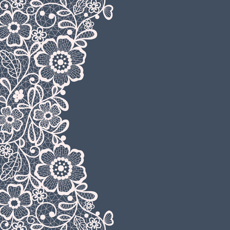 Illustration pour Template frame  design for card. Vintage Lace Doily - image libre de droit