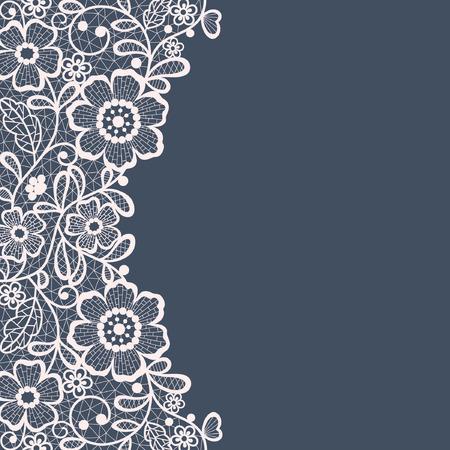 Illustration for Template frame  design for card. Vintage Lace Doily - Royalty Free Image