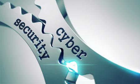 Foto de Cyber Security on the Mechanism of Metal Gears. - Imagen libre de derechos