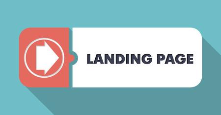 Foto de Landing Page on Blue in Flat Design with Long Shadows. - Imagen libre de derechos