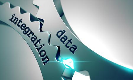 Photo pour Data Integration on the Mechanism of Metal Gears. - image libre de droit