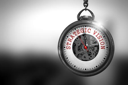 Photo pour Strategic Vision on Watch Face. 3D Illustration. - image libre de droit