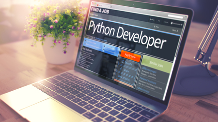 Photo for Python Developer Hiring Now. 3D. - Royalty Free Image