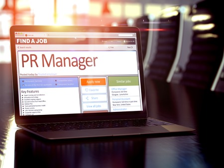 Photo for Job Opening PR Manager. 3D. - Royalty Free Image