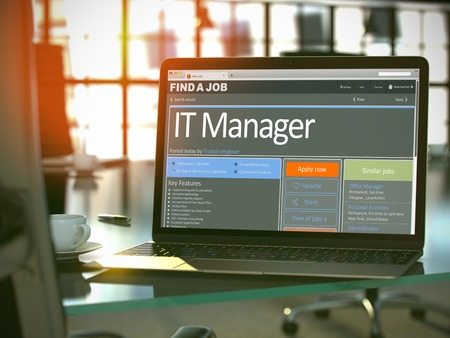 Photo for Job Opening IT Manager. 3D. - Royalty Free Image