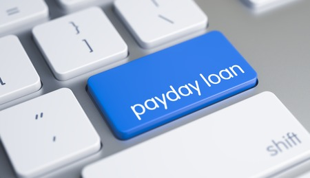 Photo pour Payday Loan - Text on the Blue Keyboard Keypad. 3D. - image libre de droit