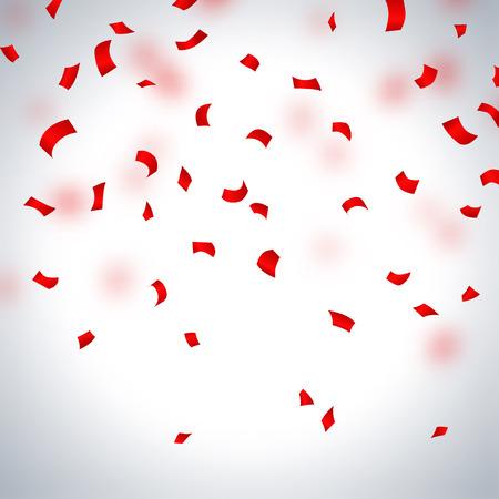 Illustration pour Red paper in flight  on a light background, vector illustration - image libre de droit