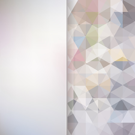 Illustration for abstract background consisting of triangles and matt  glass, vector illustration - Royalty Free Image