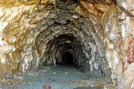 Old gold mine tunnel around Salmon Glacier, Hyder, Alaska