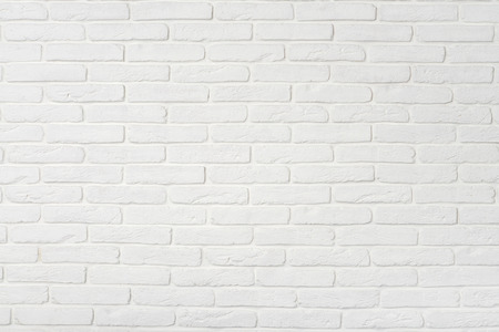 White brick wall texture. May use as background.