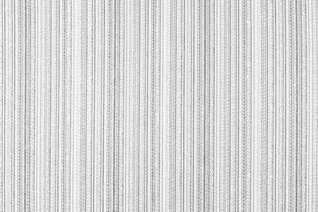 Illustration for Striped fabric background. Black and white vector texture template for overlay artwork. - Royalty Free Image