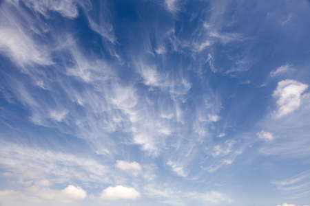 Photo for Beautiful sky with white cloud. Background - Royalty Free Image