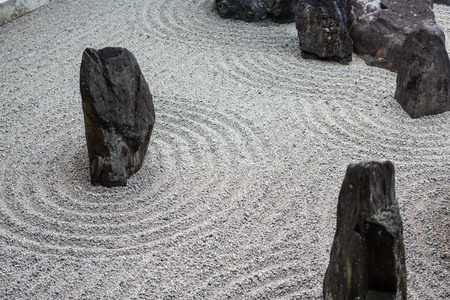 Foto de japanese zen stone pebble garden texture - Imagen libre de derechos