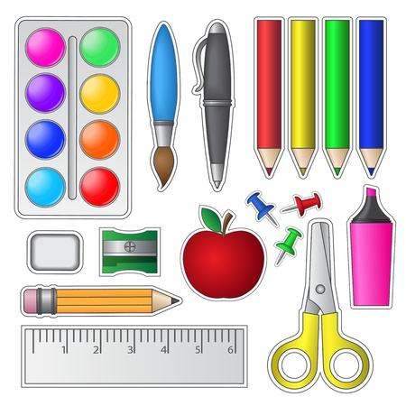 Foto de Set of School Tools and Supplies  - Imagen libre de derechos