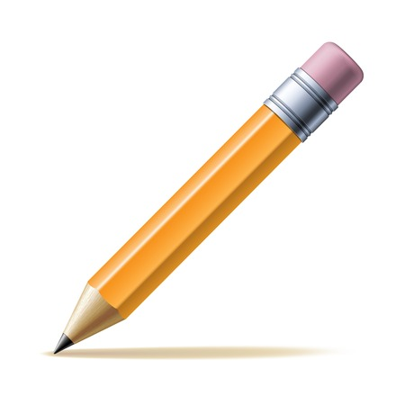 Illustration pour Detailed yellow pencil isolated on white background. Vector illustration - image libre de droit