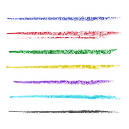 Illustration pour Set of colored brush strokes of pastel. Vector illustration - image libre de droit