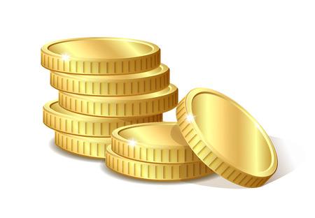 Illustration pour Stack of gold coins, vector illustration 10 eps - image libre de droit