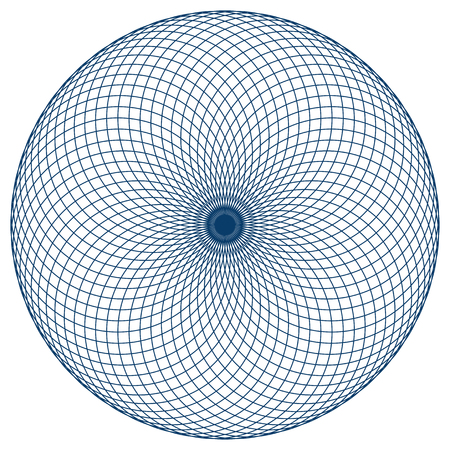Photo pour Sacred geometry vector illustration: Torus Yantra, known as Hypnotic Eye. Torus Yantra is a basic element made by circles and Seed or Flower of Life symbol. - image libre de droit