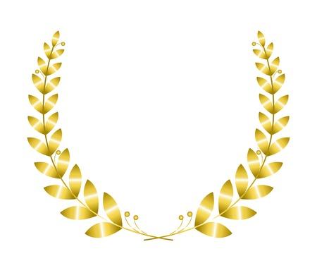 Ilustración de Gold laurel wreath isolated on white background - Imagen libre de derechos