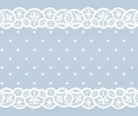 Illustration for White lace vintage pattern on gray background - Royalty Free Image