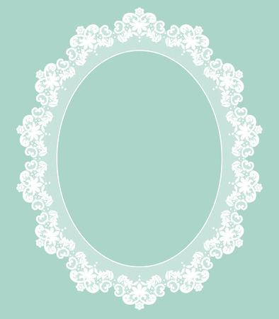 Illustration for Retro stylish frame, invitation, wedding or greeting card - Royalty Free Image