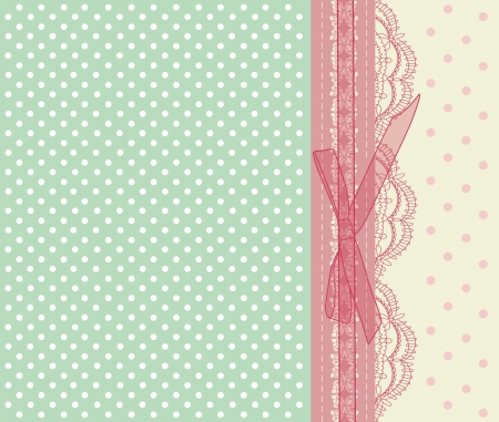 Photo for Vintage pink wedding card  - Royalty Free Image