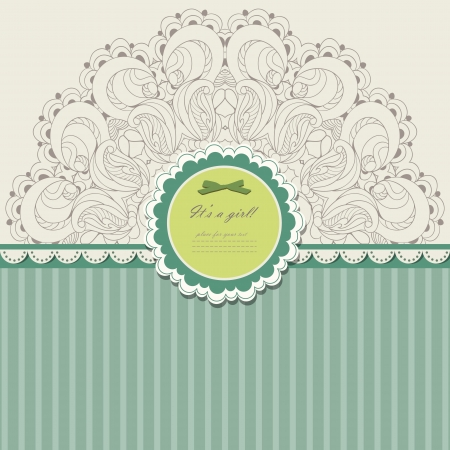 Photo for Vintage invitation with lace vector eps 10 - Royalty Free Image