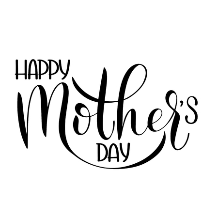 Illustration pour Happy mother Day lettering. Greeting Card Design. Hand Drawn Text - image libre de droit