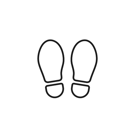 Illustration pour Footprint outline icon isolated on white background. Vector shoe print line illustration. - image libre de droit
