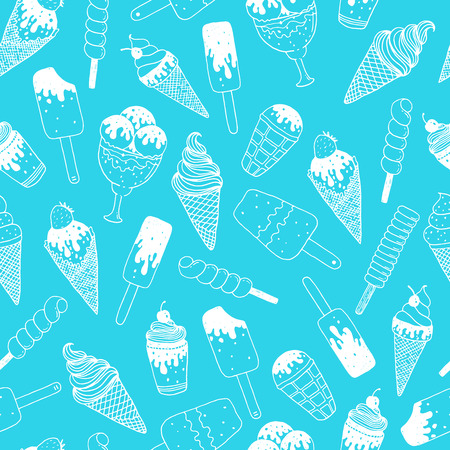 Illustration for Vector ice cream background - Royalty Free Image