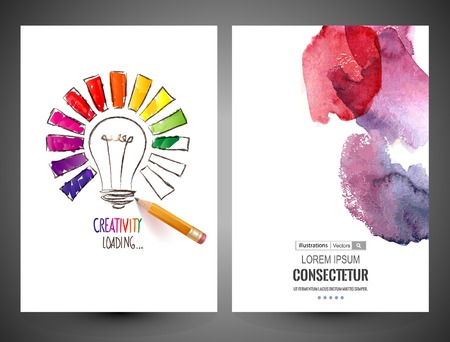 Illustration pour Abstract vector brochure, Web sites, page, leaflet, logo and text separately - image libre de droit