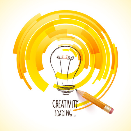 Illustration for  symbol of creative business visions - Royalty Free Image