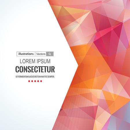 Ilustración de Abstract polygons background with  composition with geometric shapes. - Imagen libre de derechos