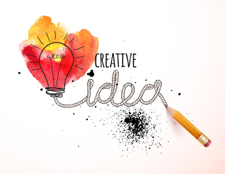 Ilustración de Creative idea loaded, vector concept for inspiration - Imagen libre de derechos