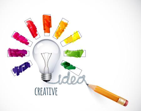 Illustration pour Idea. Design of progress bar, loading creativity - image libre de droit
