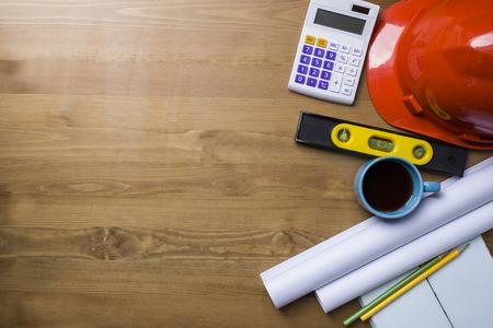 Photo pour engineer desk background ,project ideas concept - image libre de droit