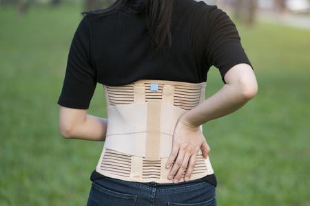 Photo pour close-up back support for muscle back - image libre de droit