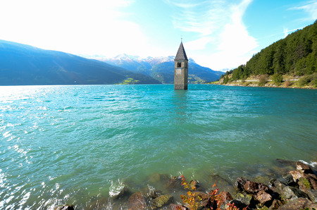 Photo for The Bell Tower of Curon South Tyrol (Italy) - Royalty Free Image