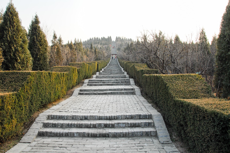 Photo pour Mausoleum of the First Qin Emperor in Xi'an, China - image libre de droit