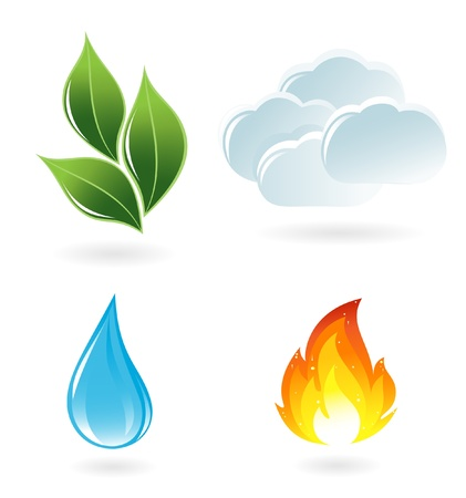 Illustration pour The four elements of life - image libre de droit