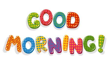 Illustration pour Good Morning letters - image libre de droit