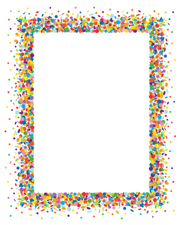 Illustration for Confetti frame - Royalty Free Image