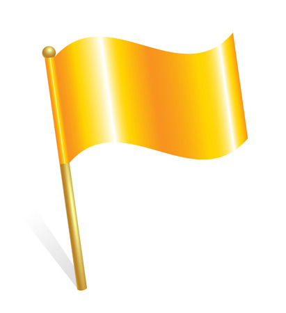 Illustration pour Yellow flag icon - image libre de droit