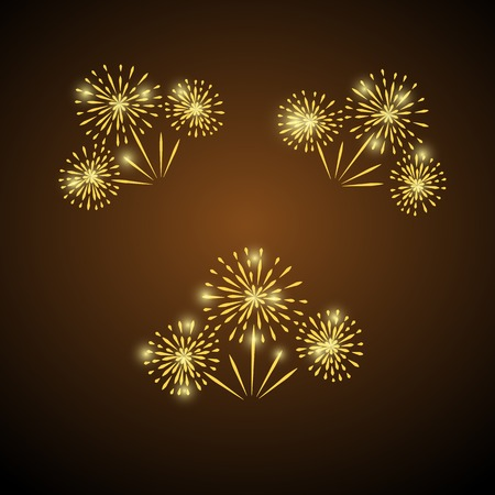 Illustration for Fireworks icon. - Royalty Free Image