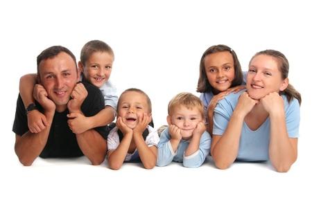 Happiness family having many children
