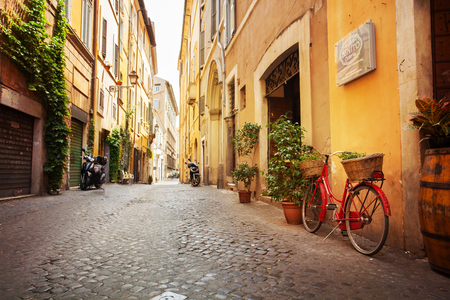Photo for Roman street. Italy. old streets in Trastevere - Royalty Free Image